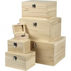 Set 6 cutii de lemn