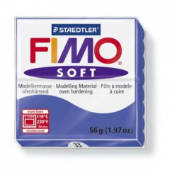 FIMO SOFT -ALBASTRU BRILIANT ( 56G )