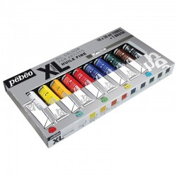 Set 10 culori de ulei XL Studio + 1 pensula Pebeo