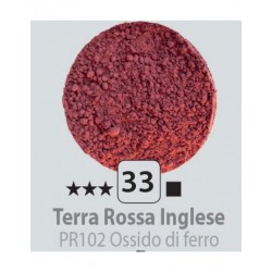 PIGMENT PULBERE TERRA ROSSO INGLESSE