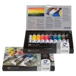 Set culori ulei Van Gogh Oil Basic Set 10 x 20 ml.