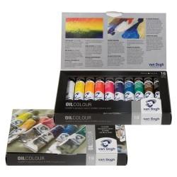 Set culori ulei Van Gogh Oil Basic Set 10 x 20 ml.
