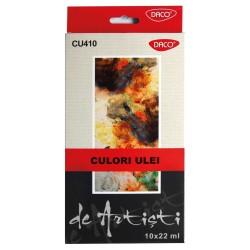 Culori ulei DACO, 10 tuburi/set