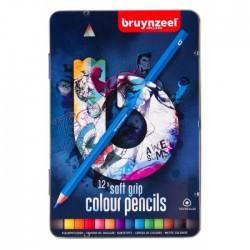 Set creioane colorate Soft Grip 12 Dark