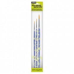 Set 3 pensule sintetice marimile 3 ,2, 6 Pebeo