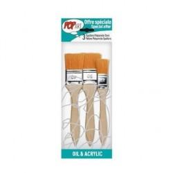 Set 3 pensule late din poliamida marimile 25, 40, 50