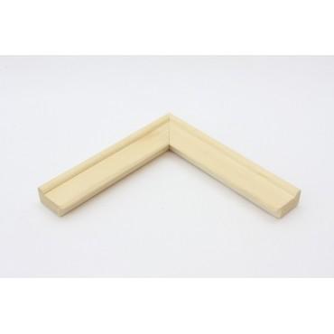 Rama lemn natur cu latime de 4cm cu buza